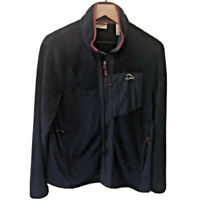 L.L.Bean Mens Full Zip Long Sleeve Fleece Jacket Blue Red Size Medium