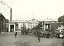 LONDON. The Royal Mint- From the Tower Bridge Approach 1896 old antique print