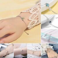 Womens Retro Bracelets 925 Sterling Silver Bridesmaid Bride Mothers Jewellery