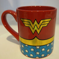 DC Comics Wonder Woman Logo Wrap Around with Stars 14oz Coffee Mug