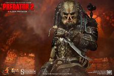 "Hot Toys Elder Predator 14"" Figure 1/6 Scale Predator 2 AVP Sideshow New"