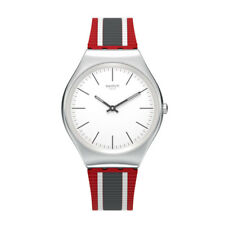 Orologio Swatch SKIN IRONY SKINFLAG SYXS114 UOMO watch SOTTILE SILICONE ROSSO