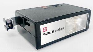 Vintage Vivitar Speedlight 32 Electronic Flash Unit +Case Japan Tested & Working