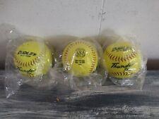 3 Dudley Thunder SY-11 Slow Pitch Softballs