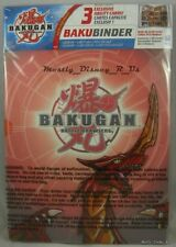 NEW Bakugan Bakubinder Trading Card Binder + Cards Pyrus