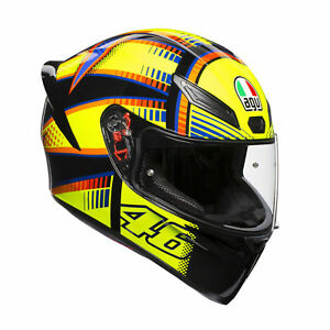 AGV K1 Soleluna Valentino Rossi 2020 + SPORTS Motorrad Helm Spoiler/Pinlock