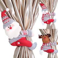 Christmas Decoration Curtain Tiebacks Tie Backs Buckle Layout Doll Xmas Party