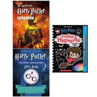 Harry Potter Collection Hidden Hogwarts Cookbook Quiz Book 3 Books Set NEW