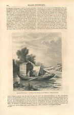 Le bateau de Charles-François Daubigny peintre de Helmerich peintre GRAVURE 1859