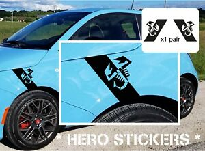 Abarth Scorpion wing Decals / Stickers Fiat 500 / 595 / 695