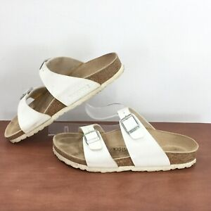Birkenstock 37 Womens Sz 6 Double Buckle Adjustable Sandal Creamy White 37 / Sz6