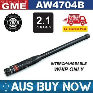 NEW GME AW4704B BLACK MAST WHIP SUIT AE4705 AE4706 UHF CB ANTENNA FIBERGLASS
