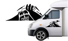 "Large 12"" wide STAR WARS DARTH VADER PEEKING Car/Van/ caravan/ boat Sticker"