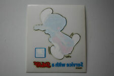 Hard to Find National Benzole Petrol Smurf Car Sticker  UK Issue Only Schlumpfe