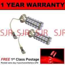 H3 RED 60 LED FRONT FOG SPOT LAMP LIGHT BULBS HIGH POWER KIT XENON FF500202 X2