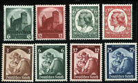GERMANY #442 #443 #446 #447 #448-451 Reich Postage Stamps Collection Mint NH OG