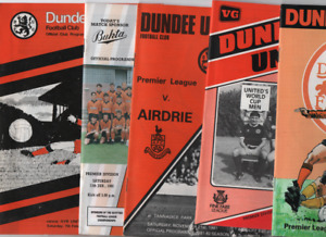Dundee United HOME programmes 1960's 1970's 1980's 1990's League & Cup