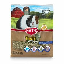 Kaytee Timothy Complete Guinea Pig Food No Loose seeds or Sugary fruits 5 Pounds