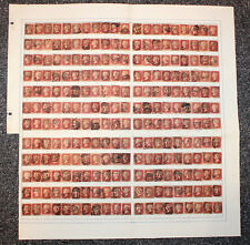 GB. QV. SG 43, 1d ROSE RED RE-CONSTRUCTION. AA to TL.