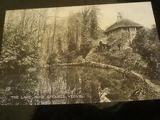 Valentines Bromotype printed postcard lake at Ninesprings Yeovil c1920s