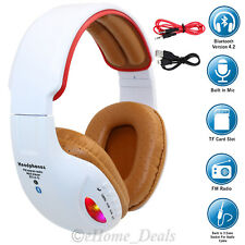 Wireless Bluetooth 4.0Hifi Stereo Headphone Headset Mic For Computer Laptop iPod