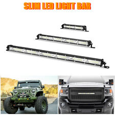 "7"" 13"" inch Slim LED Work Light Bar Flood Fog Offroad Driving 4WD Truck ATV SUV"