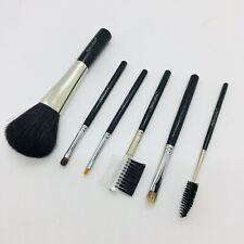 6 Pc Makeup Brush Set Foundation Powder Eyeshadow Blending Brush Natural Hair T1