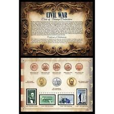 NEW American Coin Treasures Civil War Coin & Stamp Collection 11228