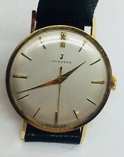 Juvenia Vintage Yellow Gold Plated Manual Wind Mens Watch