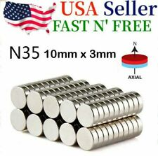 20 50 100 Pcs Super Strong Round Disc N35 10 X 3mm Magnets Rare Earth Neodymium