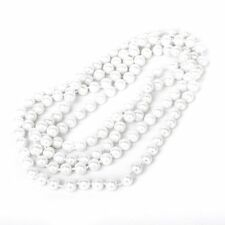 Freshwater Pearl white drop pearl necklace Beaded Long Chain Rope Bead FK