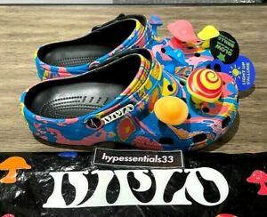 Diplo Crocs Classic Clog Mushrooms Glow In The Dark MENS Size 5 DS New. In hand