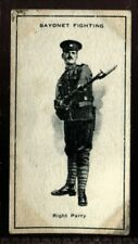 Tobacco Card, Imperial Canada, INFANTRY TRAINING, 1915, Bayonet Fighting, #39