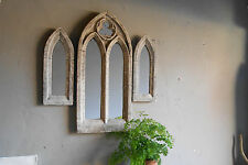 STONE EFFECT TRIO OF GOTHIC MIRRORS,GREAT VINTAGE STYLE Church windows