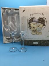 Fizzy Moon Bride And Groom Glasses In Presentation Box (h)(AH)
