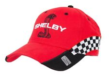Shelby SuperSnake Checkered Flag CS Race Track Logo Red Hat Ford Mustang GT500