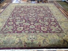 8 x 10  Indo Agra Hand  spawned Wool Hand Knotted Oriental Rug