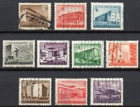 Hungary 1951-1953 Buildings: A Joblot collection of fine USED Stamps