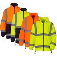 Yoko HVK08 Safety Hi Vis Visibilty Work Fleece Jacket | Premium Heavy Weight