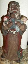 Rare Sarahs Attic Ltd Black Santa Figurine Love The Children