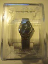 Swatch - YSS261M-46 - Women's Silver Stainless Steel Quartz Watch Blue Dial, NIB