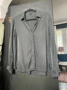 James Perse Ladies' Dark Grey Silky Shirt, Size M. New Without Tags