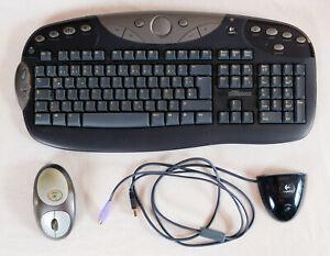 Logitech Funk Tastatur Maus Set kabellos USB PS/2 deutsch