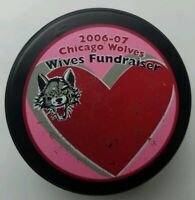 2006-2007 CHICAGO WOLVES WIVES FUNDRAISER OFFICIAL LINDSAY MFG. HOCKEY PUCK