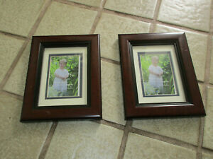 Two Old Town solid hardwood, picture frames