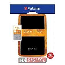 HD Hard Disk Store Black 53176 Esterno 2,5 da 750GB USB 3.0 Verbatim 750 GB