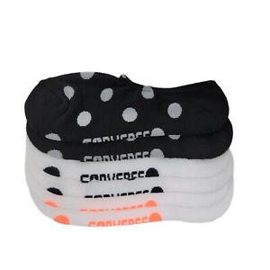 Converse Women's Half Cushion Ultra Low Socks (Polka Dot Black/White)
