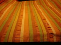 """Pier 1 Imports""  Set (6) Striped Cloth Linen Table Napkins Holiday Decor   230"