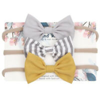 3pcs/set Infant Baby Girls Cute Bow Headband Newborn Headwear