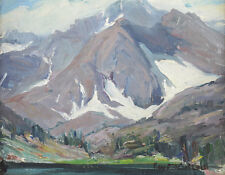 Fay Mcculloch American 20th Century Oil on board, Mountain landscape plein air